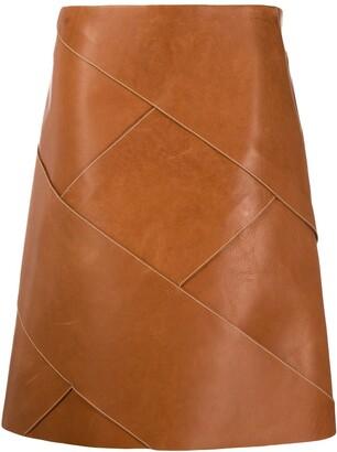 Bottega Veneta Intrecciato Weave Midi Skirt