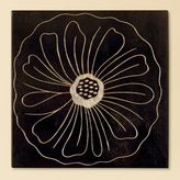 Espresso Carved Wood Flower Plaque III