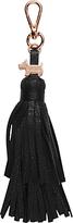 Radley Double Tassel Leather Handbag Charm, Black