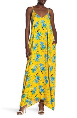 Love Stitch Floral Print Sleeveless Maxi Dress
