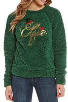 Love on a Hanger Christmas #Elfie Fuzzy Sweater