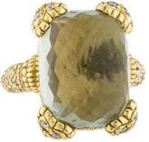 Judith Ripka 18K Quartz & Diamond Ring