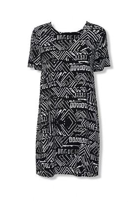 Forever 21 Geo Print T-Shirt Dress