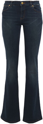 MICHAEL Michael Kors Faded Mid-rise Bootcut Jeans