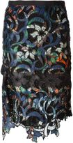 Sacai multipatterned skirt - women - Nylon/Polyester/Cupro - 2