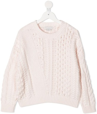 Stella McCartney Kids Cable-Knit Jumper