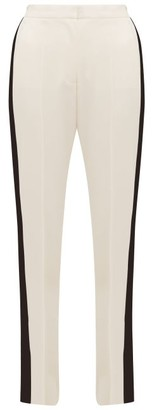 Stella McCartney Slit-ankle Side-stripe Wool Trousers - Womens - Cream