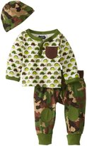 Mud Pie Infant Boys Dinosaur and Camo Print Take Me Home Set, 3-6 Month
