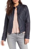 Bernardo Women's Mixed Media Faux Leather Jacket