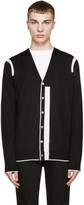 McQ by Alexander McQueen Black & White Color Tip Cardigan