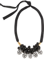 Marni Gold-plated, Crystal And Resin Necklace - Black
