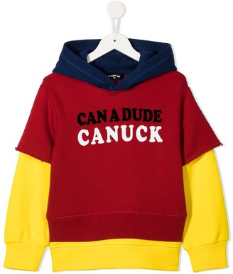 DSQUARED2 Can A Dude Canuck Print Hoodie