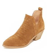 Sigerson Morrison Bonnie Perforated Suede Booties