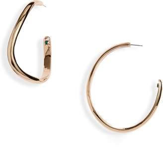 Calypso DEMARSON Curved Hoop Earrings