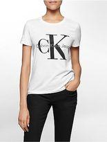 Calvin Klein Womens Vintage Logo Short Sleeve Top