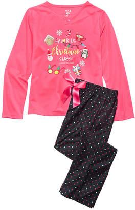 Max & Olivia Big Girls 2-Pc. Holiday Stuff Pajama Set