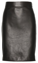 Black Leather Pencil Skirt - ShopStyle