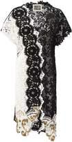 Fausto Puglisi Black And White Lace Coat.