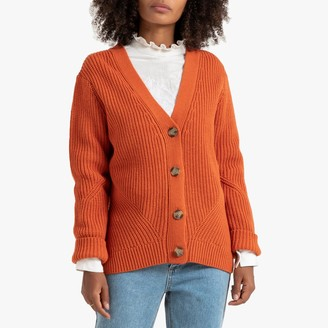 La Redoute Collections Buttoned Chunky Knit Cardigan