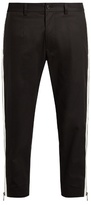 Dolce & Gabbana Side-zip Cropped Piqué Trousers