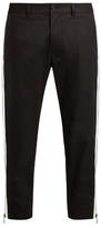 Dolce & Gabbana Side-zip cropped piqué trousers