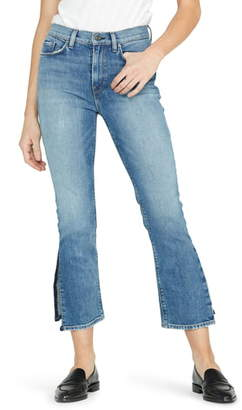 Hudson Jeans Holly High Waist Side Slit Crop Straight Leg Jeans