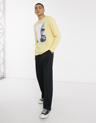 Chi Modu 2Pac Reality is Wrong long sleeve in yellow