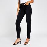 River Island Black Amelie turn up hem skinny jeans