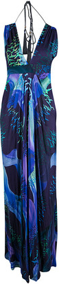 Matthew Williamson Multicolor Bird Print Tassel Detail Maxi Dress M