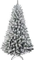 David Jones 210cm North Star Flocked Tree Green
