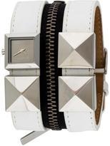 Karl Lagerfeld Zipper Stud Watch
