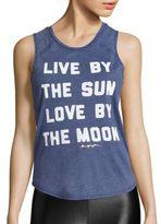 Spiritual Gangster Sun Moon Muscle Tank Top