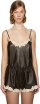 Alexander Wang Black Leather Straight Cut Camisole