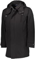Ben Sherman Black Hidden-Placket Hooded Coat
