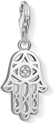 Thomas Sabo Hand of Fatima White Diamond Charm Pendant