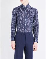 Canali Regular-fit Floral-print Linen Shirt