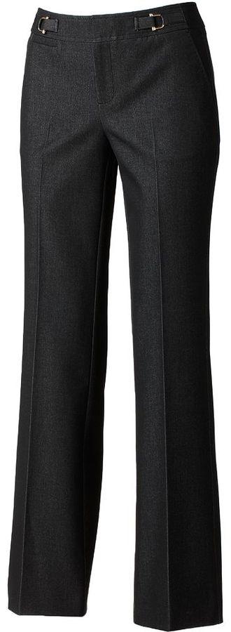 Dana Buchman embellished straight-leg jeans