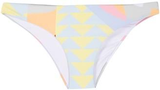 Self-Portrait Geometric-Print Bikini Bottoms