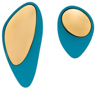 Monica Sordo Pilot asymmetric earrings