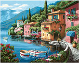 JCPenney Paint By Number Kit 20 X 16- Lakeside Village