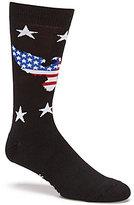 K. Bell K.Bell American Flag Eagle Printed Crew Socks