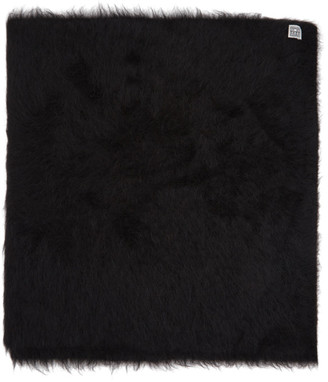Totême SSENSE Exclusive Black Alpaca Beira Scarf
