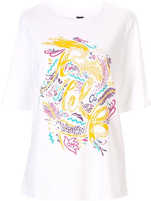 Romance Was Born Step Into Paradise print T-shirt