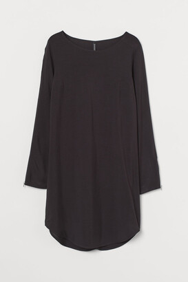 H&M Short Viscose Dress - Black