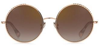 Jimmy Choo Goldy 56MM Round Sunglasses