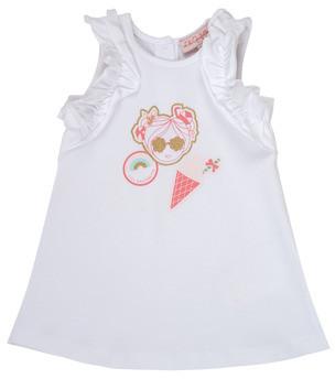 Lili Gaufrette NAVETTE girls's dress in White