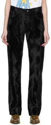 Martine Rose Black Faux Pony Augustus Trousers