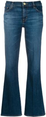 J Brand Flared Denim Trousers