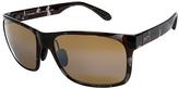 Maui Jim Gray Tortoise & Bronze Red Sands Polarized Square Sunglasses