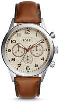 Fossil Flynn Pilot Chronograph Brown Leather Watch